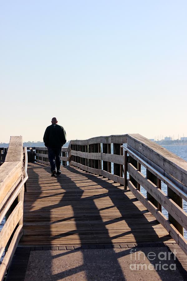 Man Photograph - Solitary Man Walks by Mesa Teresita