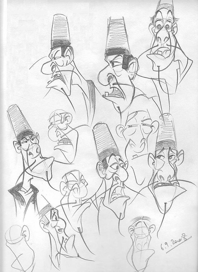 Cartoon Drawing - Some Other Work by Alex Klein