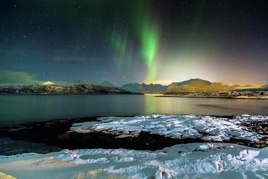 Norway Photograph - Sommaroy Aurora  1 by Chantelle Flores
