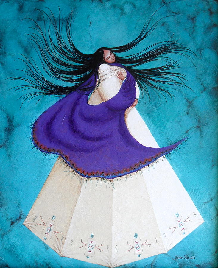 Turquoise Painting - Song Of My Heart by Karen Roncari