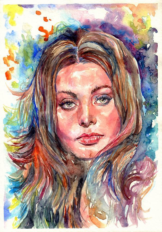 Sophia Painting - Sophia Loren Painting by Suzann Sines