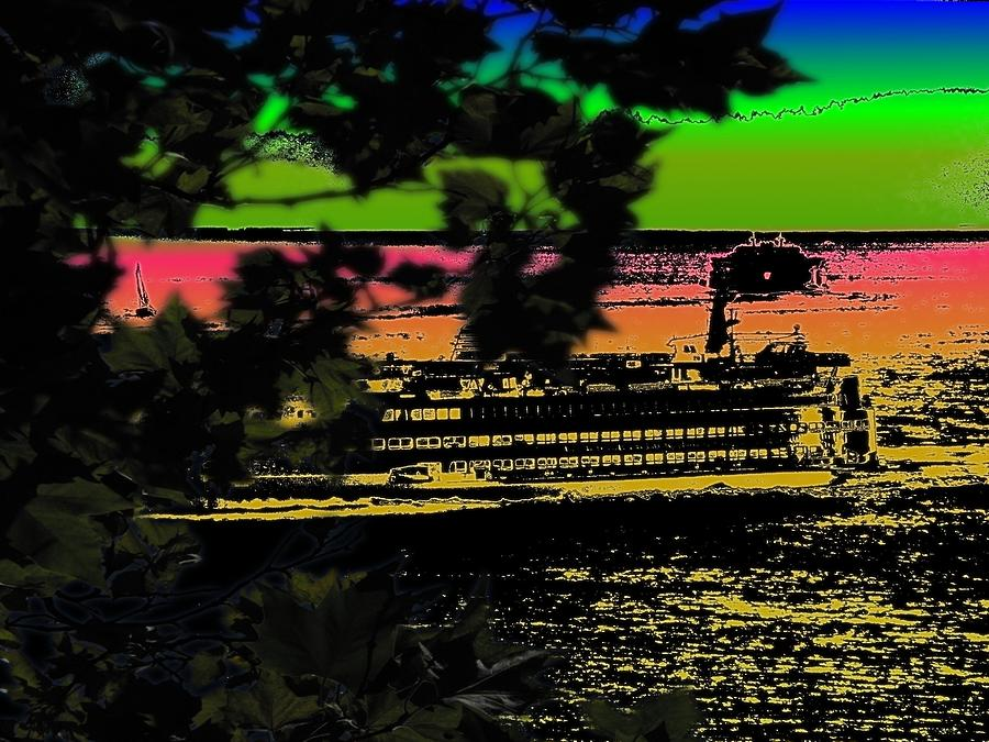 Ferry Digital Art - Soundside Treehouse View by Tim Allen