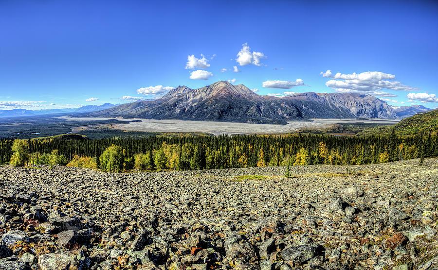Alaska Photograph - Sourdough Peak by Fred Denner