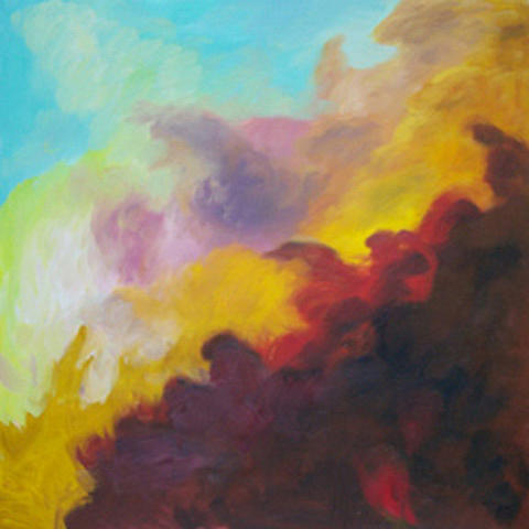 Abstract Painting - Space Cloud by Anne Trotter Hodge
