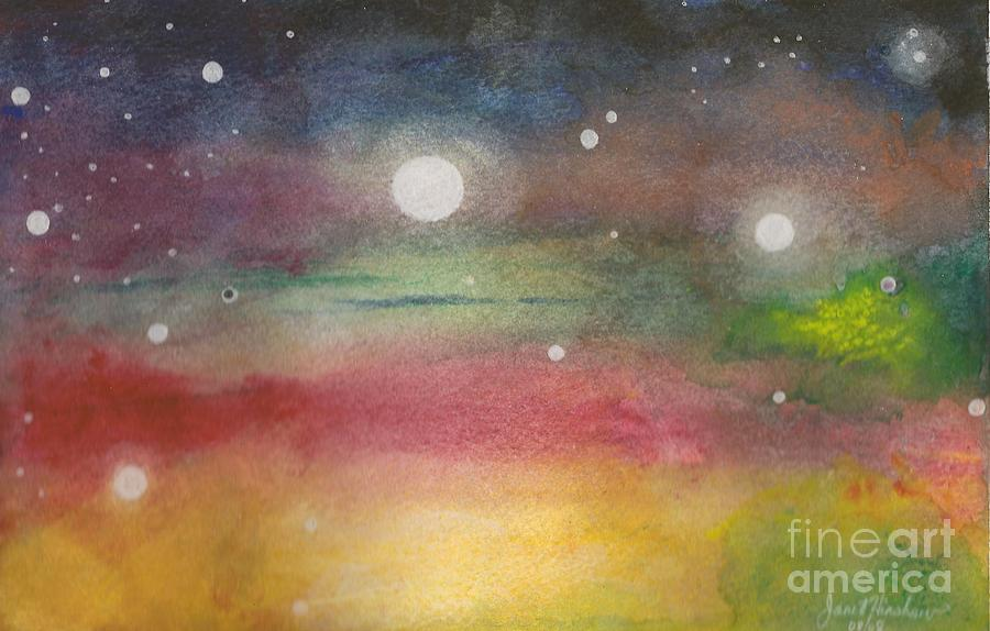 Space Painting - Space Rainbow by Janet Hinshaw