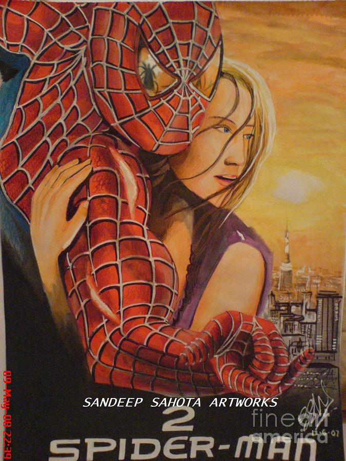 Tom Cruise Painting - Spiderman by San Art Studio