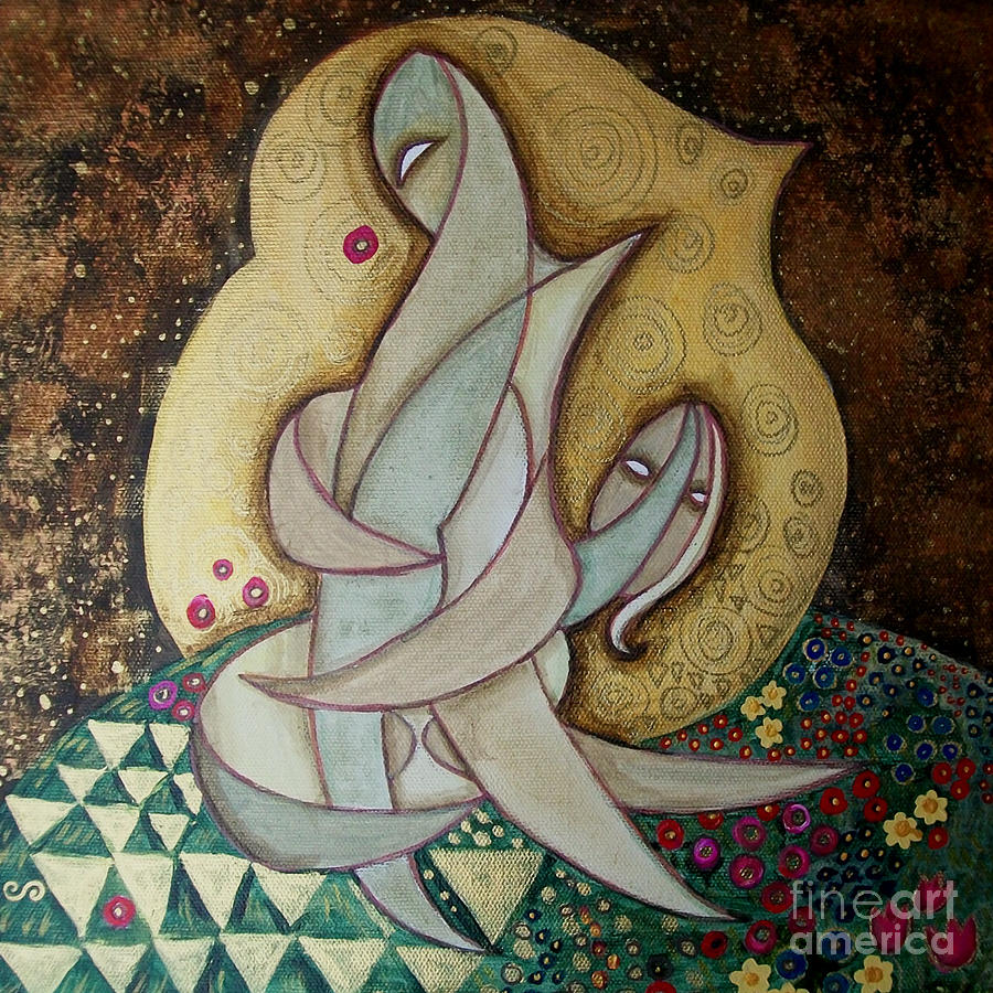 Lovers Painting - Spirit Lovers by Carola Joyce