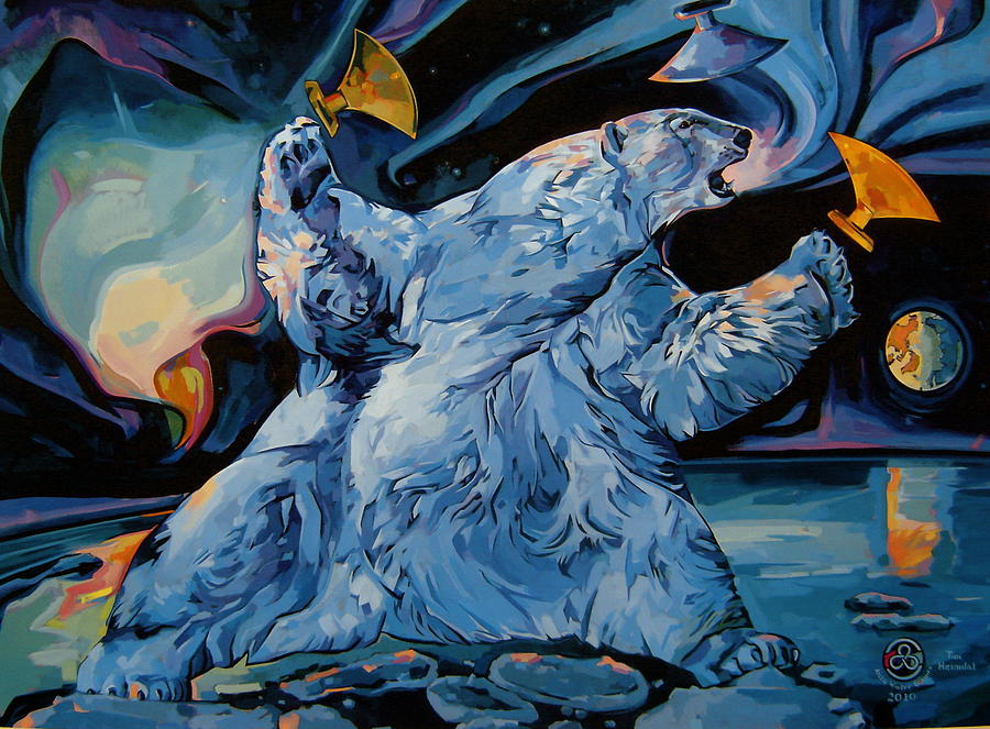 Heimdal Painting - Spirit Of The Arctic Winter Games  by Tim  Heimdal