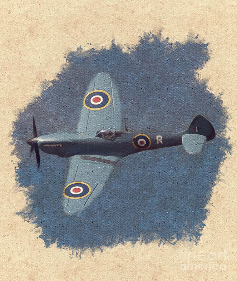 Spitfire Painting - Spitfire - Wwii Fighter by Esoterica Art Agency