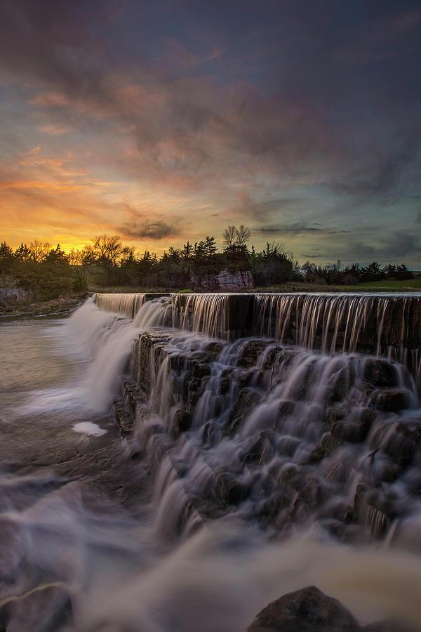 Waterfall Photograph - Split Rock by Aaron J Groen