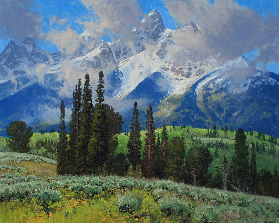 Landscape Painting - Spring Ascension by Lanny Grant