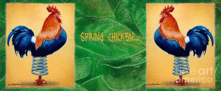 Will Bullas Painting - Spring Chicken... by Will Bullas