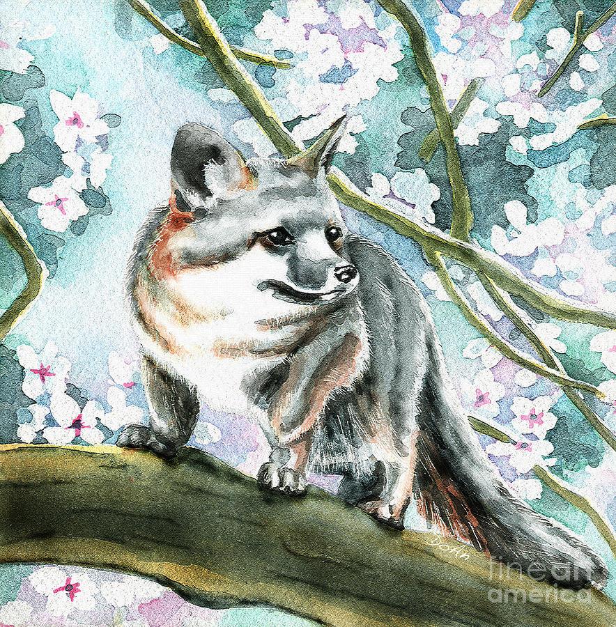 Spring Painting - Spring Fox by Antony Galbraith