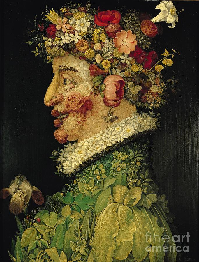 Spring Painting - Spring by Giuseppe Arcimboldo
