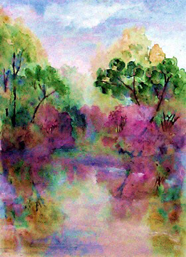 Spring Painting - Spring Time In Alabama by Anne Hamilton