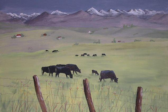Landscapes Painting - Springtime In Baker County by Dora Gourley