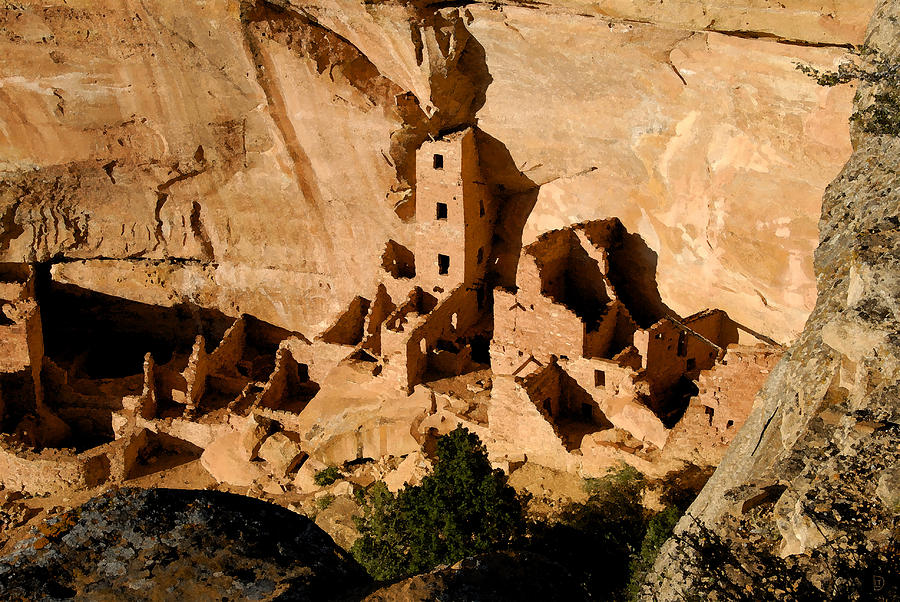 Mesa Verde National Park Painting - Square Tower Ruin by David Lee Thompson