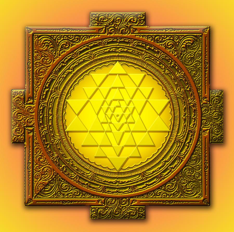 Mandala Mixed Media - Sri Yantra by Lila Shravani