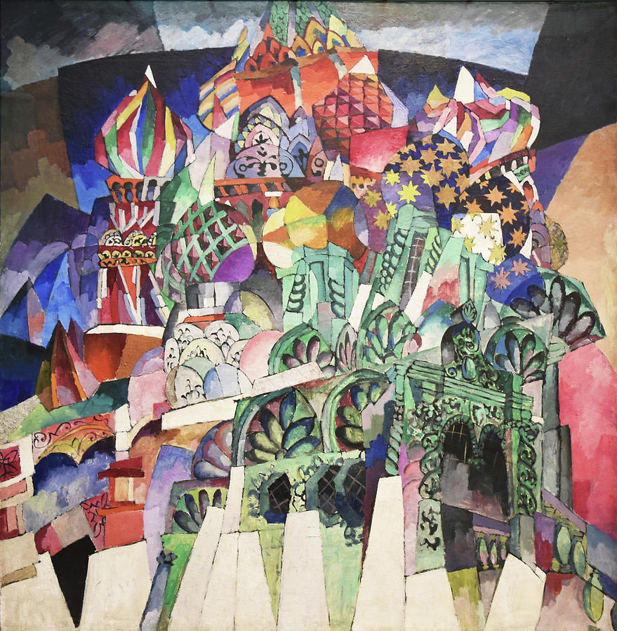 St. Basils Cathedral Painting by Aristarkh Lentulov