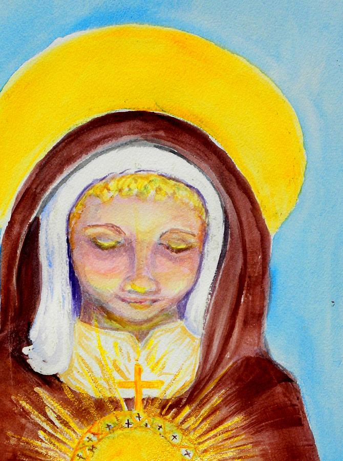 St. Clare Painting - St. Clare Of Assisi by Susan  Clark