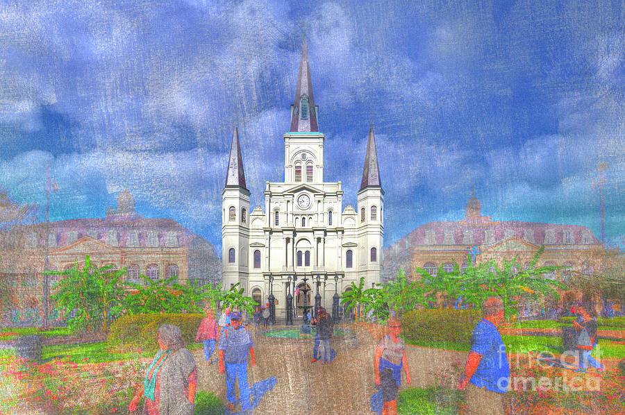 Texture Photograph - St Louis Cathedral  by Larry Braun