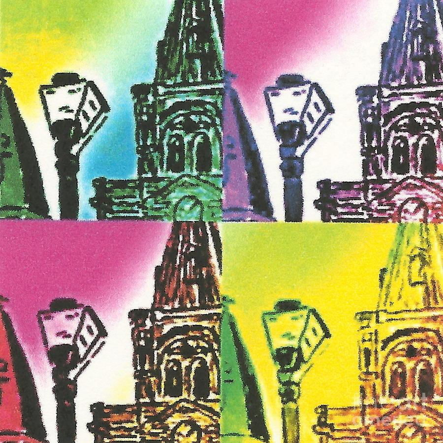 Nola Digital Art - St. Louis Cathedral Pop  by John Giardina