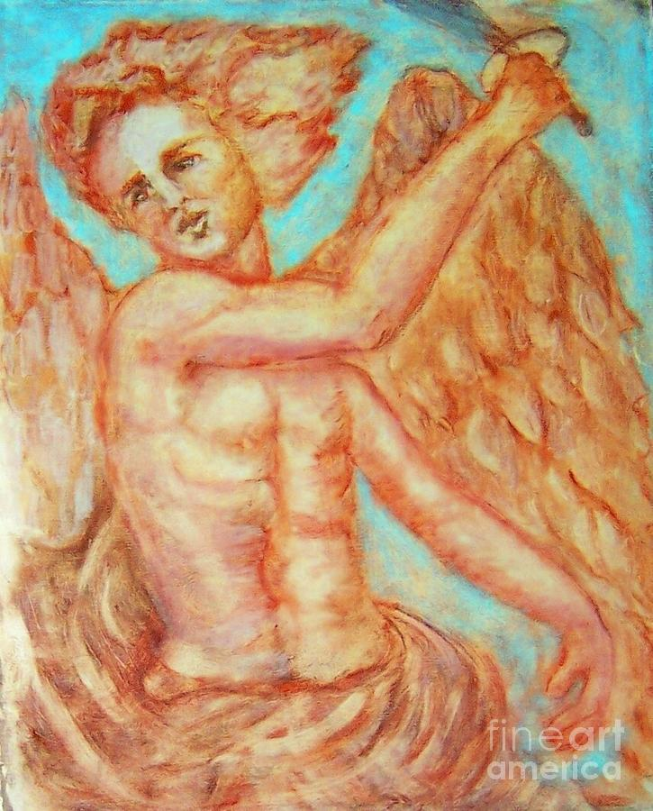 Michael The Archangel Painting - St. Michael The Archangel by Suzanne Reynolds