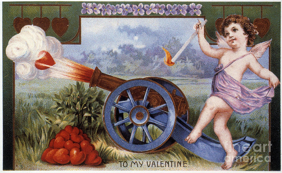 1915 Photograph - St. Valentines Day Card by Granger