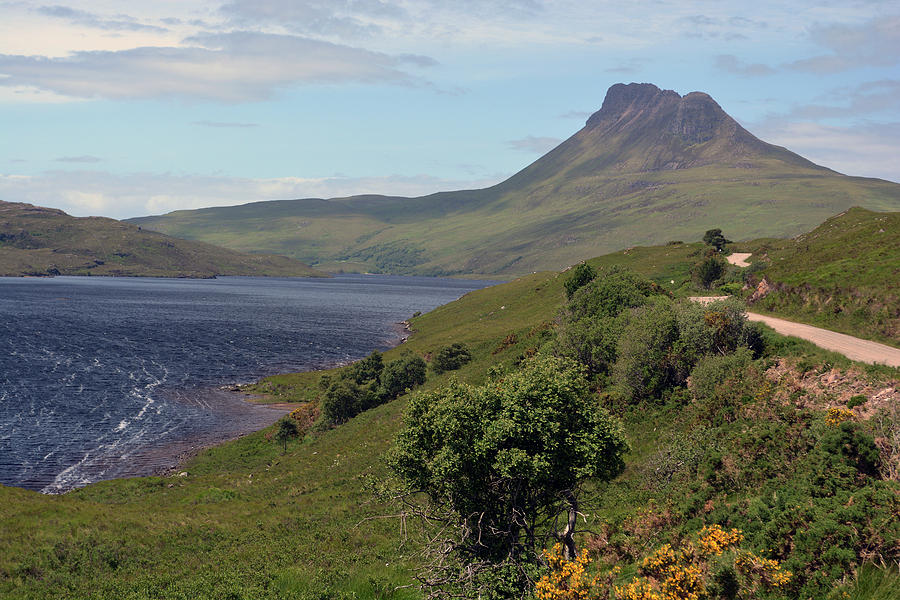 Loch Photograph - Stac Pollaidh by Steve Watson