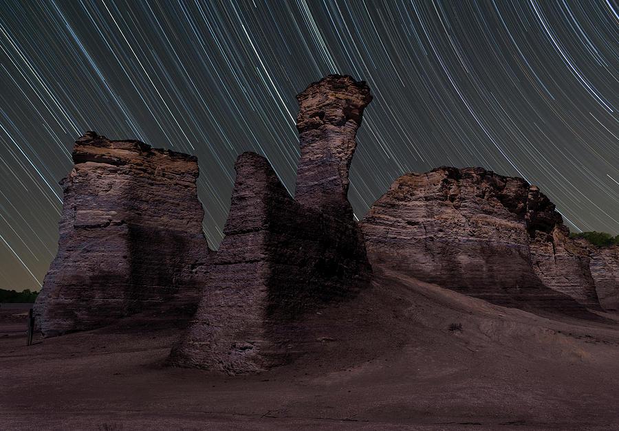 Star Circles Over Monument Rocks by Hal Mitzenmacher