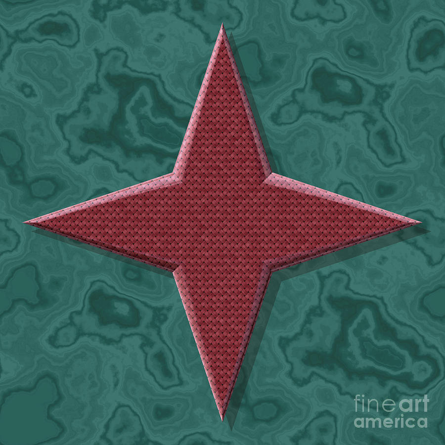 Star Shape Frame With Seamless Generated Texture Background Digital Art
