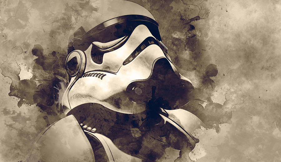 Star Wars Digital Art - Star Wars.stormtrooper. by Elena Kosvincheva
