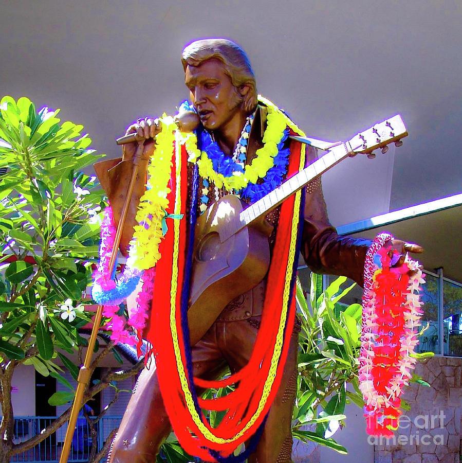 Elvis Photograph - Statue Of, Elvis Presley - Honolulu, Hawaii  by D Davila