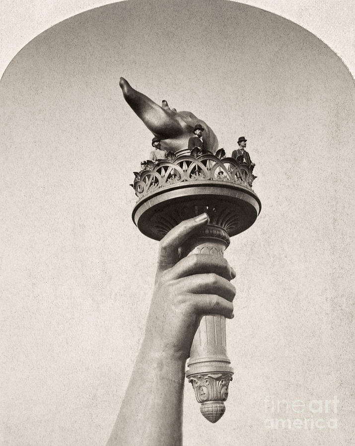 1876 Photograph - Statue Of Liberty, 1876 by Granger