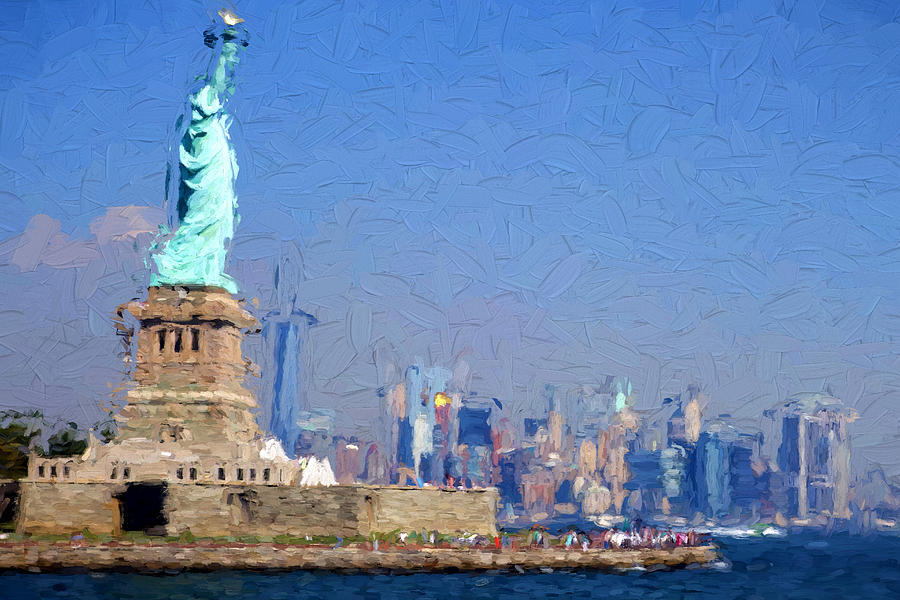 Statue Of Liberty Digital Art - Statue Of Liberty, Nyc by Matthew Ashton