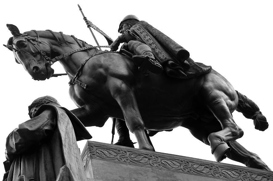 Statue Photograph - Statue Of St. Wenceslas In Prague by Stanislav Stoklas