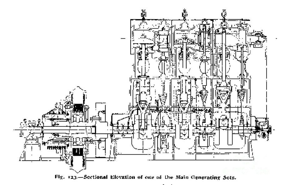 steam engine diagram titanic 1911 photograph by science source
