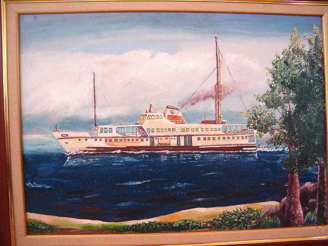 Steamship 2 Painting by Fahrettin  Oktay