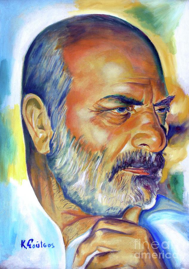 Stelios Kazantzidis portrait by Star Portraits Art
