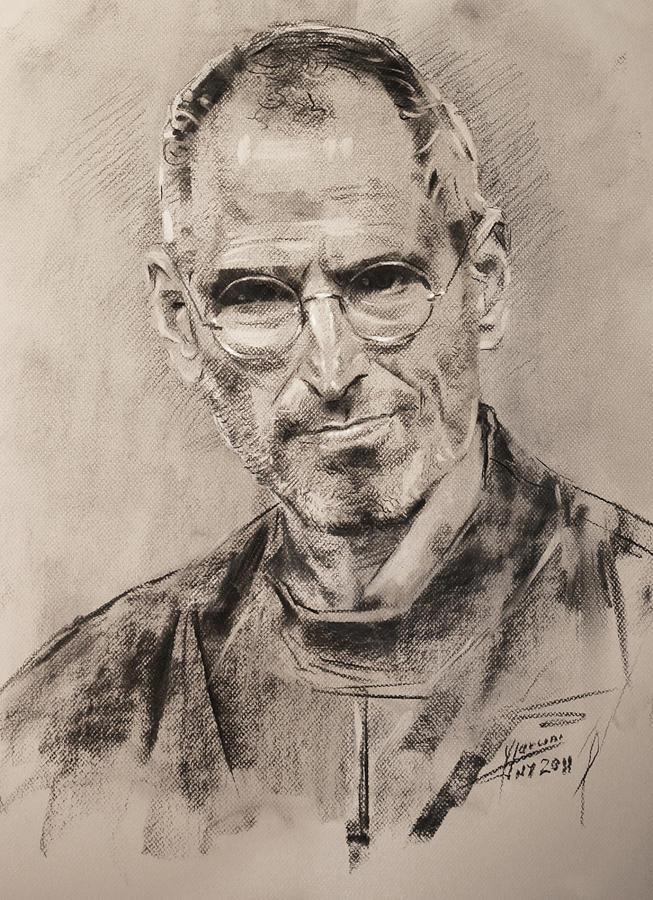 Steve Jobs Drawing - Steve Jobs by Ylli Haruni