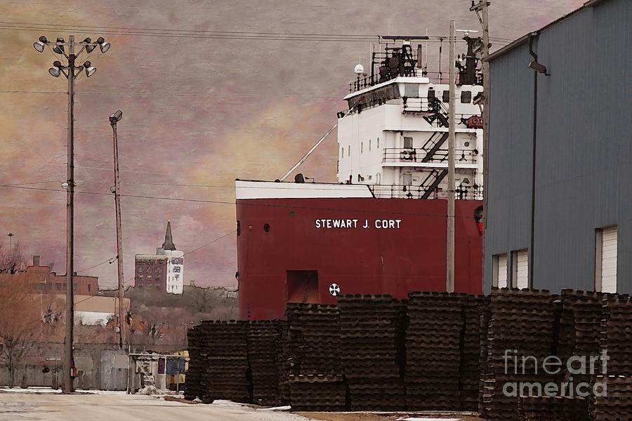 Freighter Digital Art - Stewart J Cort by David Blank