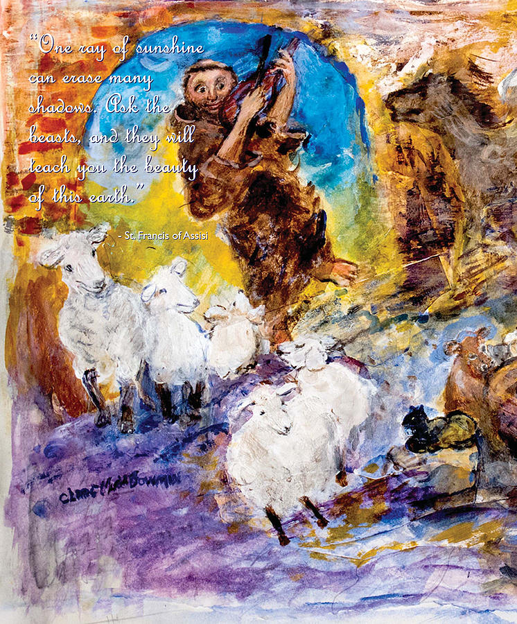 St.Francis Speaks of Nature by Claremaria Vrindaji Bowman