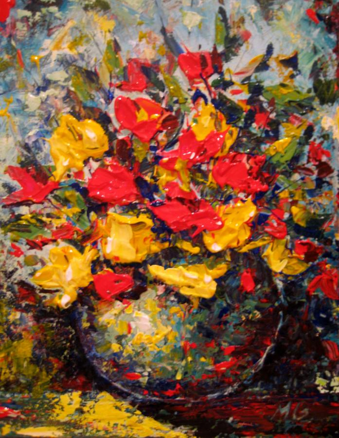 Flower Painting - Still Life by Mirjana Gotovac