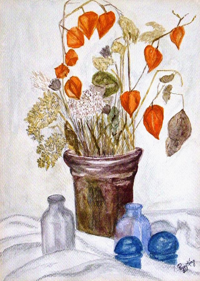 Still Life Painting - Still Life With Chinese Lanterns by Peggy King