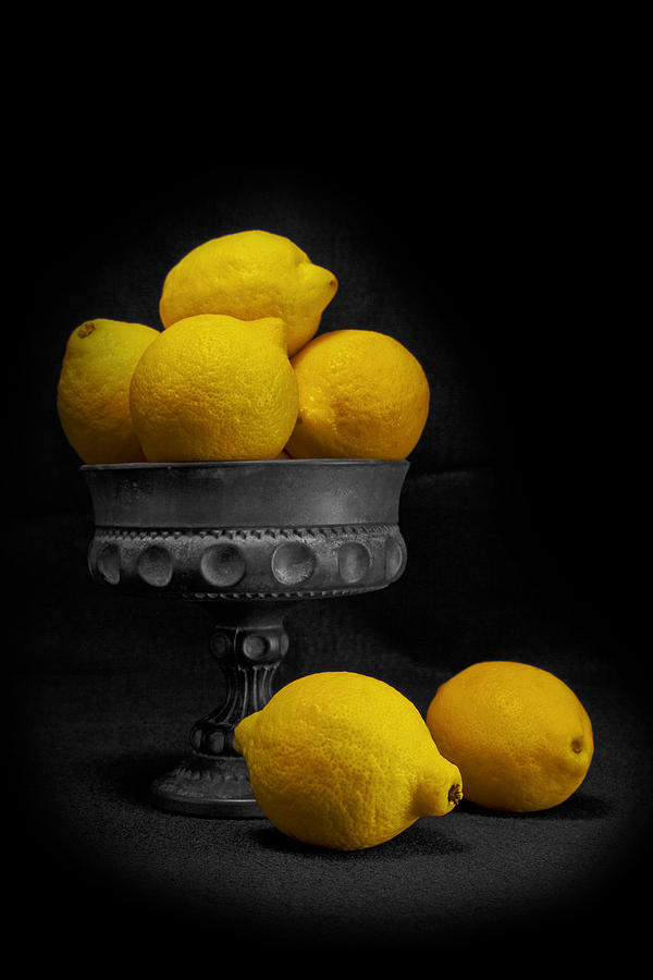Bowl Photograph - Still Life With Lemons by Tom Mc Nemar