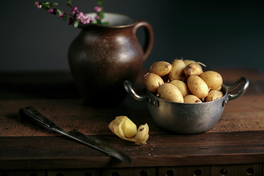 Still Life With Potatoes Photograph