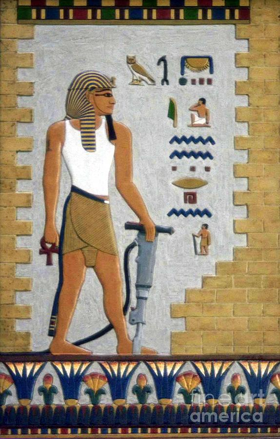 Africa Painting - Stone Cutter by Richard Deurer