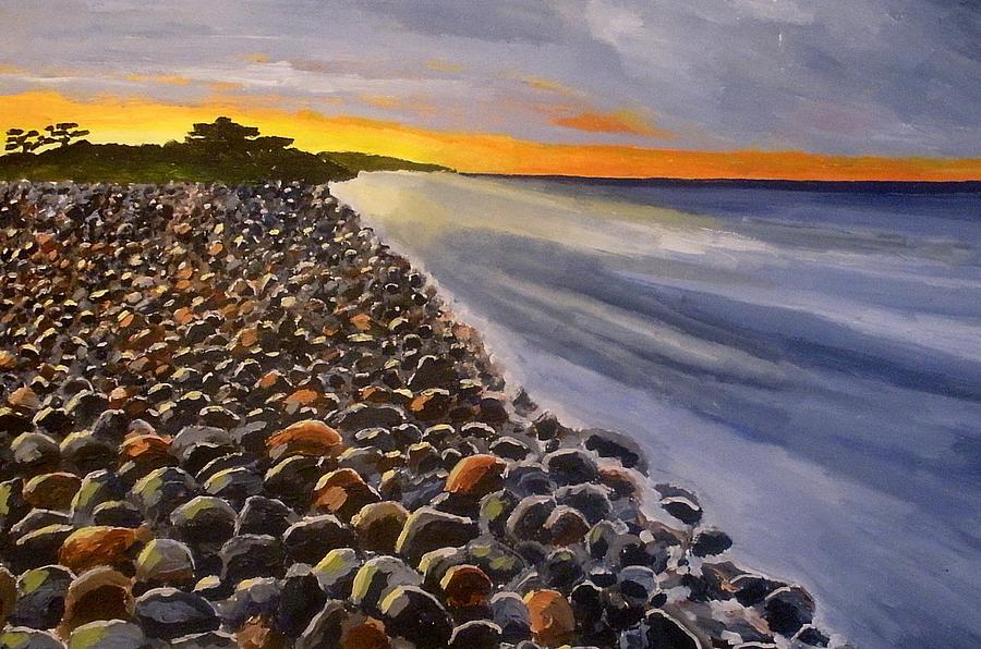 Coast Painting - Stony Beach by Mats Eriksson