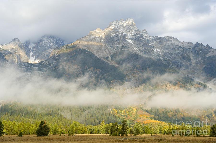 Grand Teton National Park Photograph - Storm On Grand Teton by Sandra Bronstein