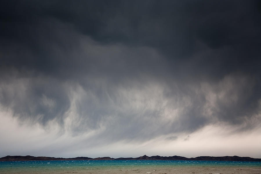 Beautiful Photograph - Storm On Karakul Lake by Konstantin Dikovsky
